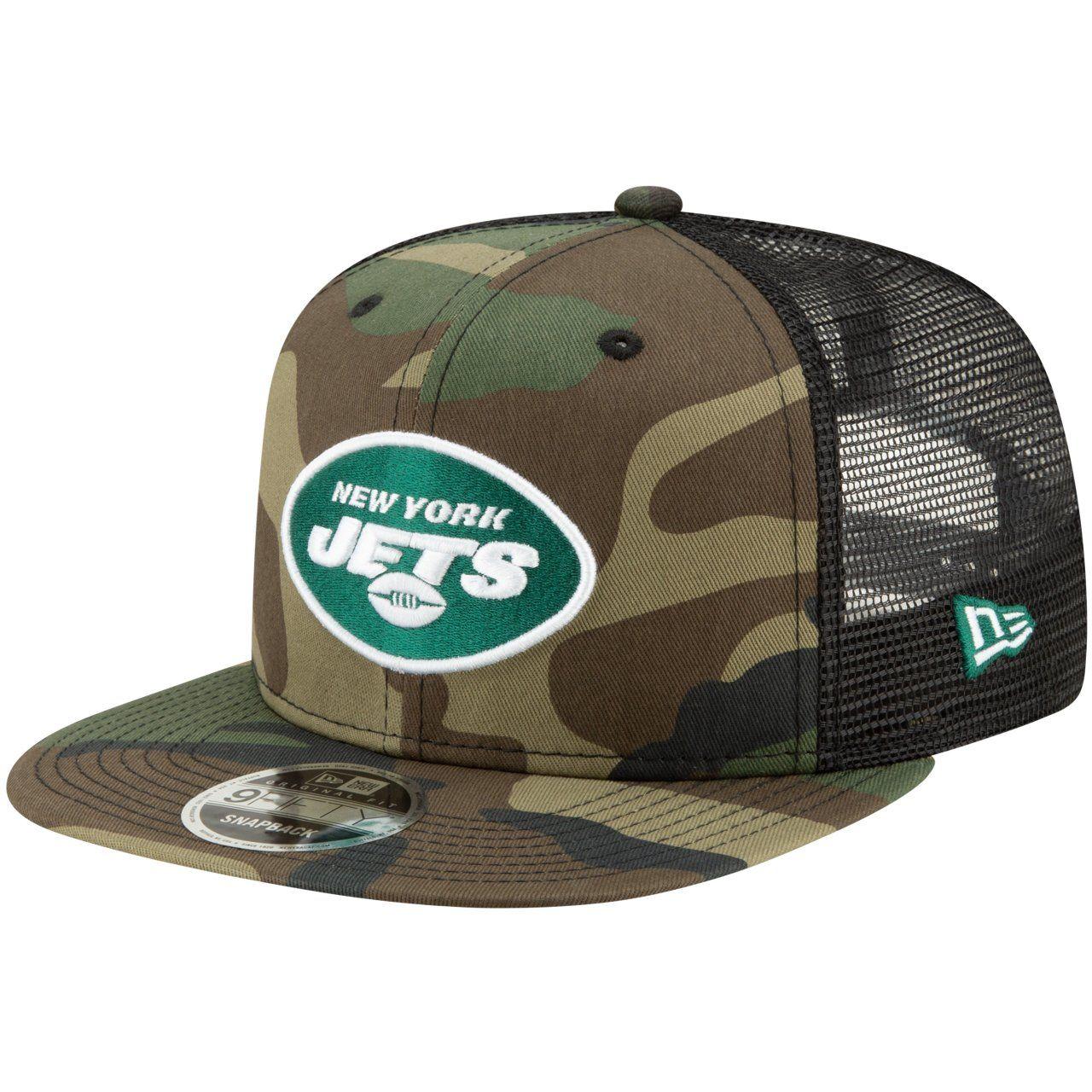 amfoo - New Era 9Fifty Mesh Snapback Cap New York Jets wood camo