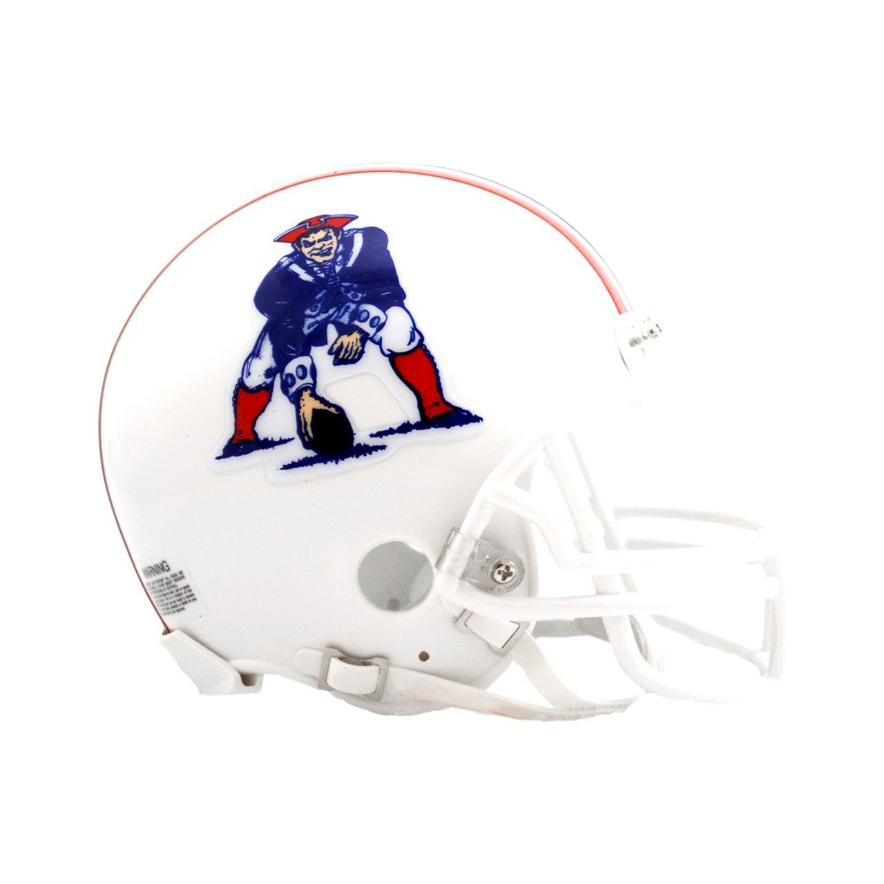 amfoo - Riddell VSR4 Mini Football Helm - New England Patriots 82-89