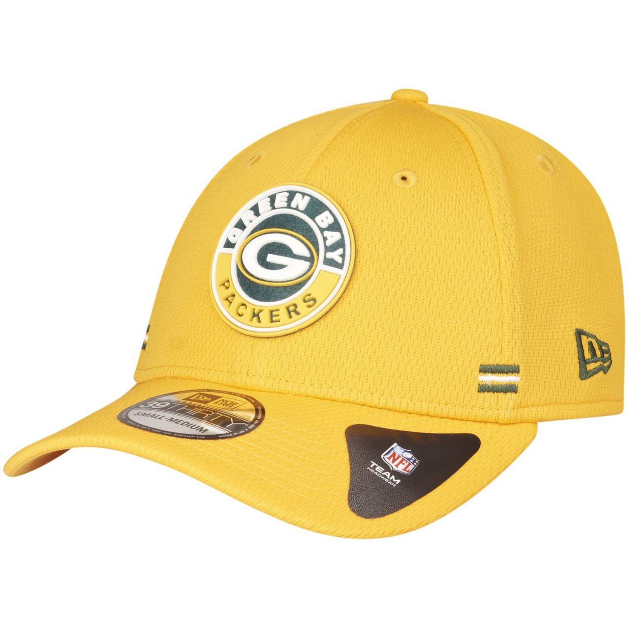 amfoo - New Era 39Thirty Cap - ROAD Green Bay Packers gelb