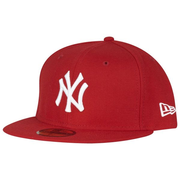New Era 59Fifty Cap - BASIC New York Yankees rot / weiß