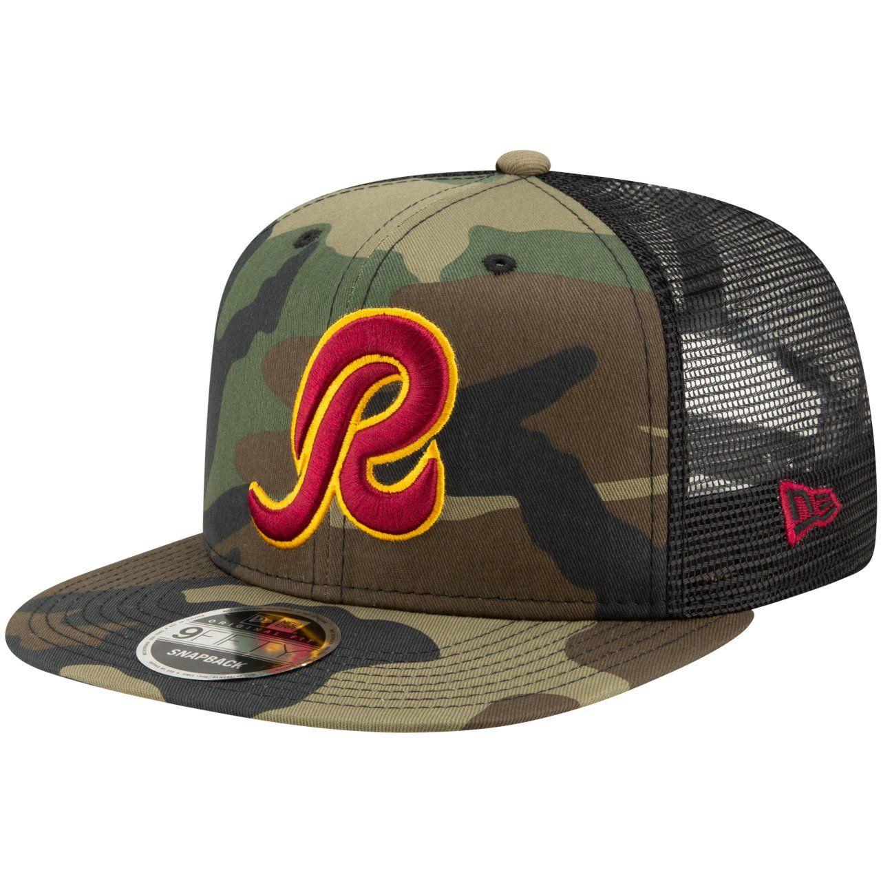 amfoo - Throwback Washington Redskins Mesh 9Fifty Snapback Cap wood