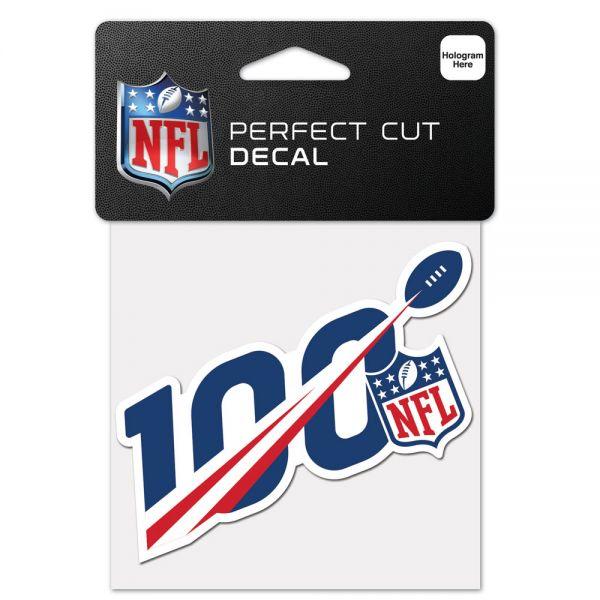 Wincraft Aufkleber 10x10cm - 100-jähriges NFL-Jubiläum