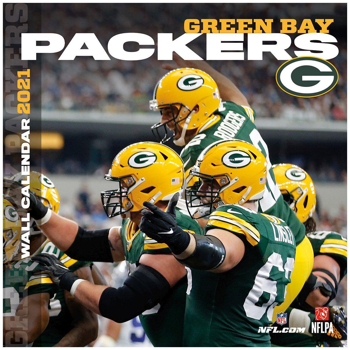 amfoo - Turner NFL 30x30cm Wand-Kalender 2021 Green Bay Packers