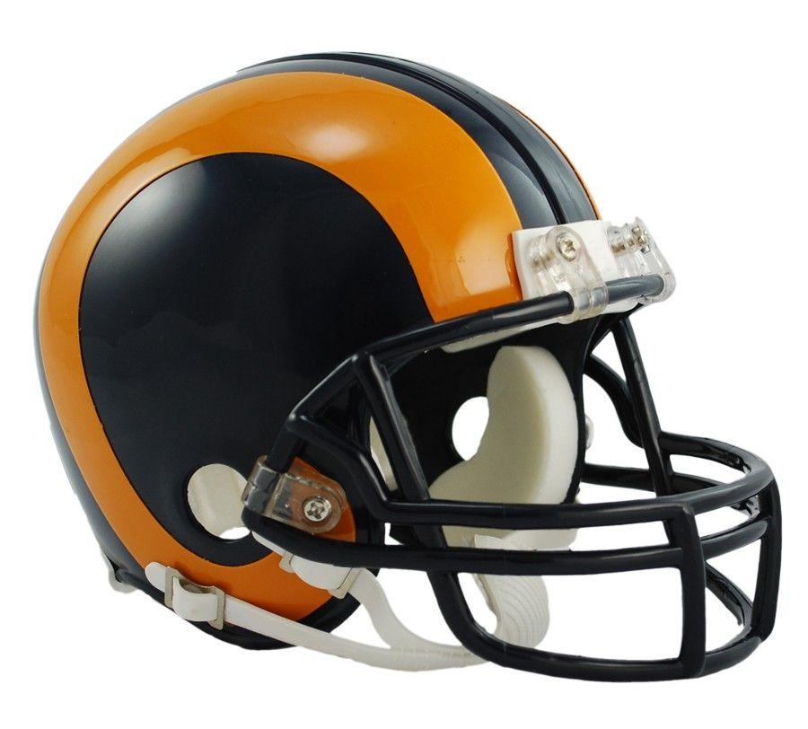 amfoo - Riddell Mini Football Helm - NFL Los Angeles Rams 1981-99