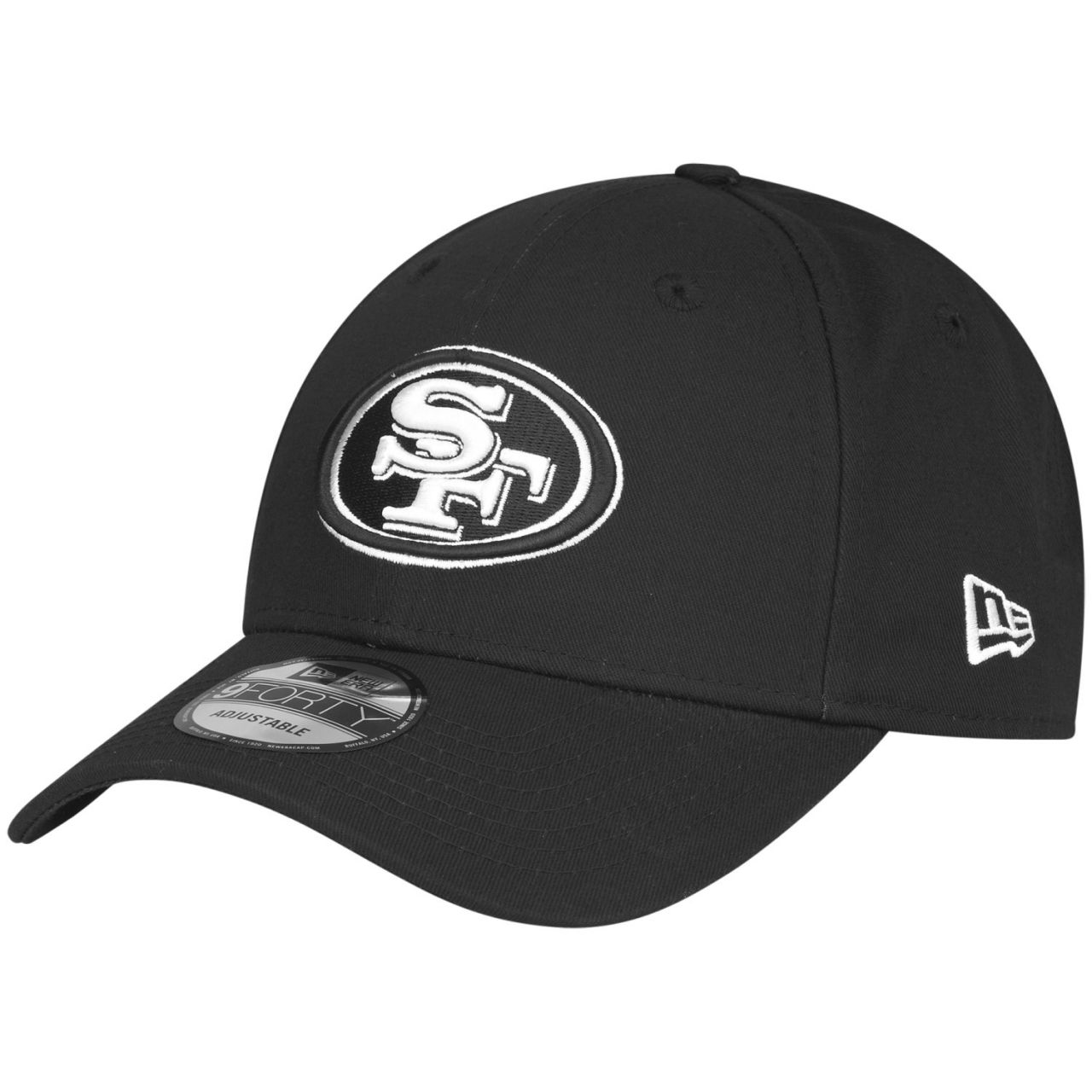 amfoo - New Era 9Forty Adjustable Cap - BLACK San Francisco 49ers