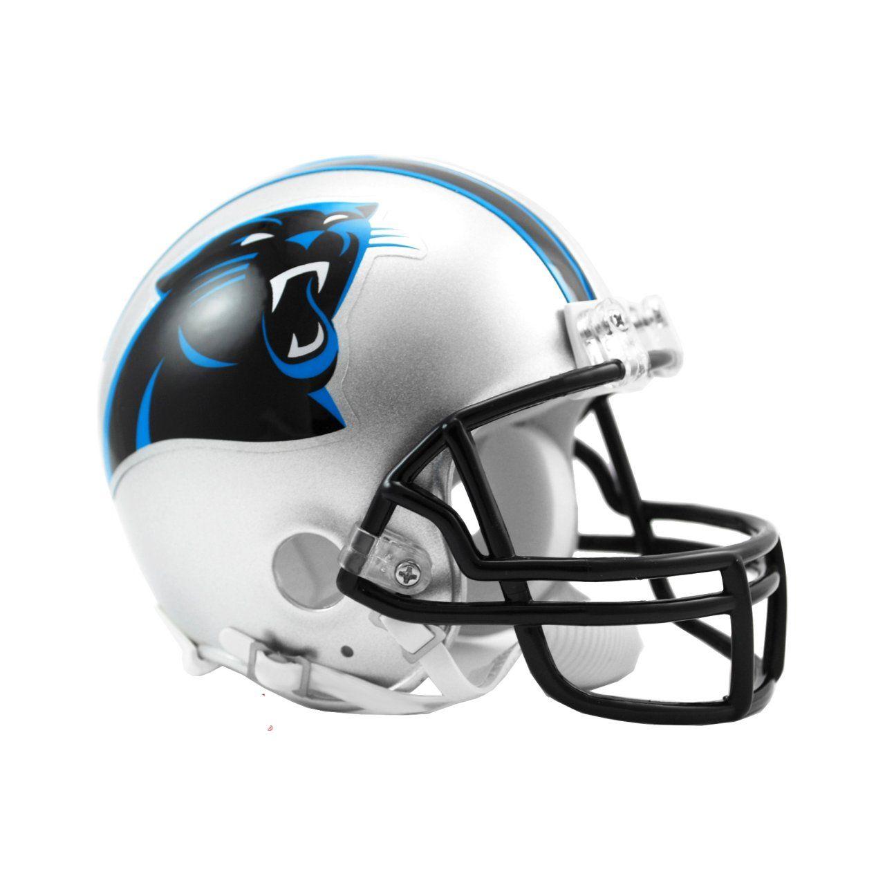 amfoo - Riddell VSR4 Mini Football Helm - NFL Carolina Panthers