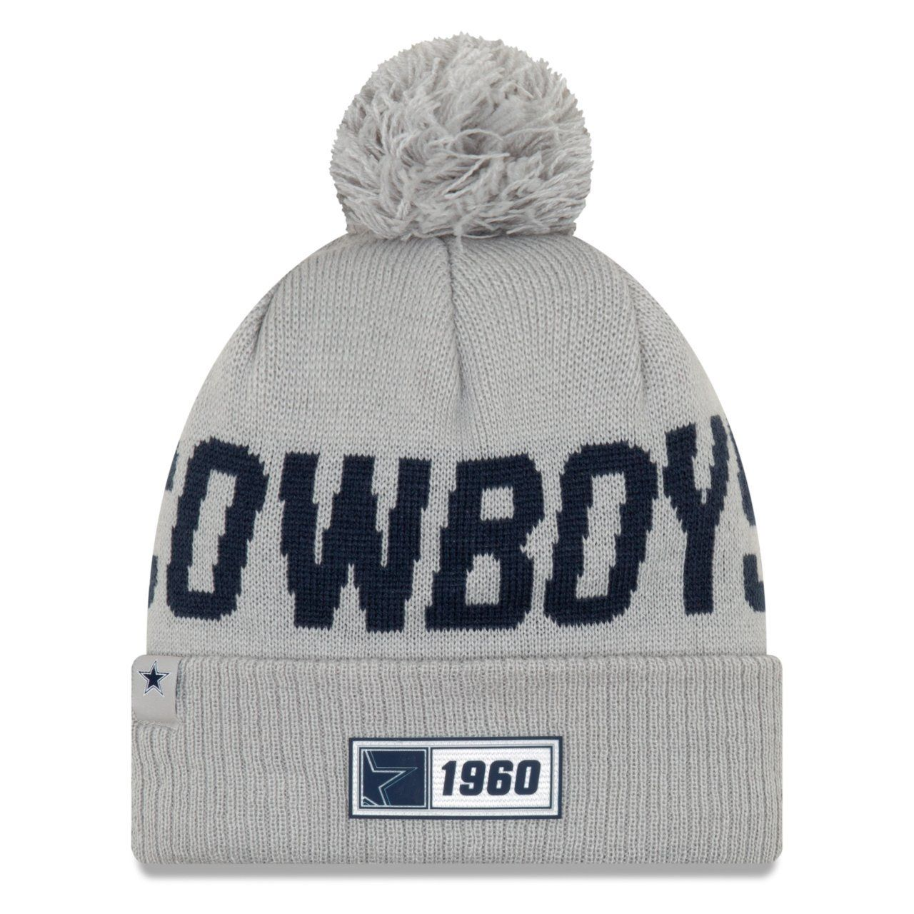 amfoo - New Era Sideline Road 2019 Bommel Mütze Dallas Cowboys