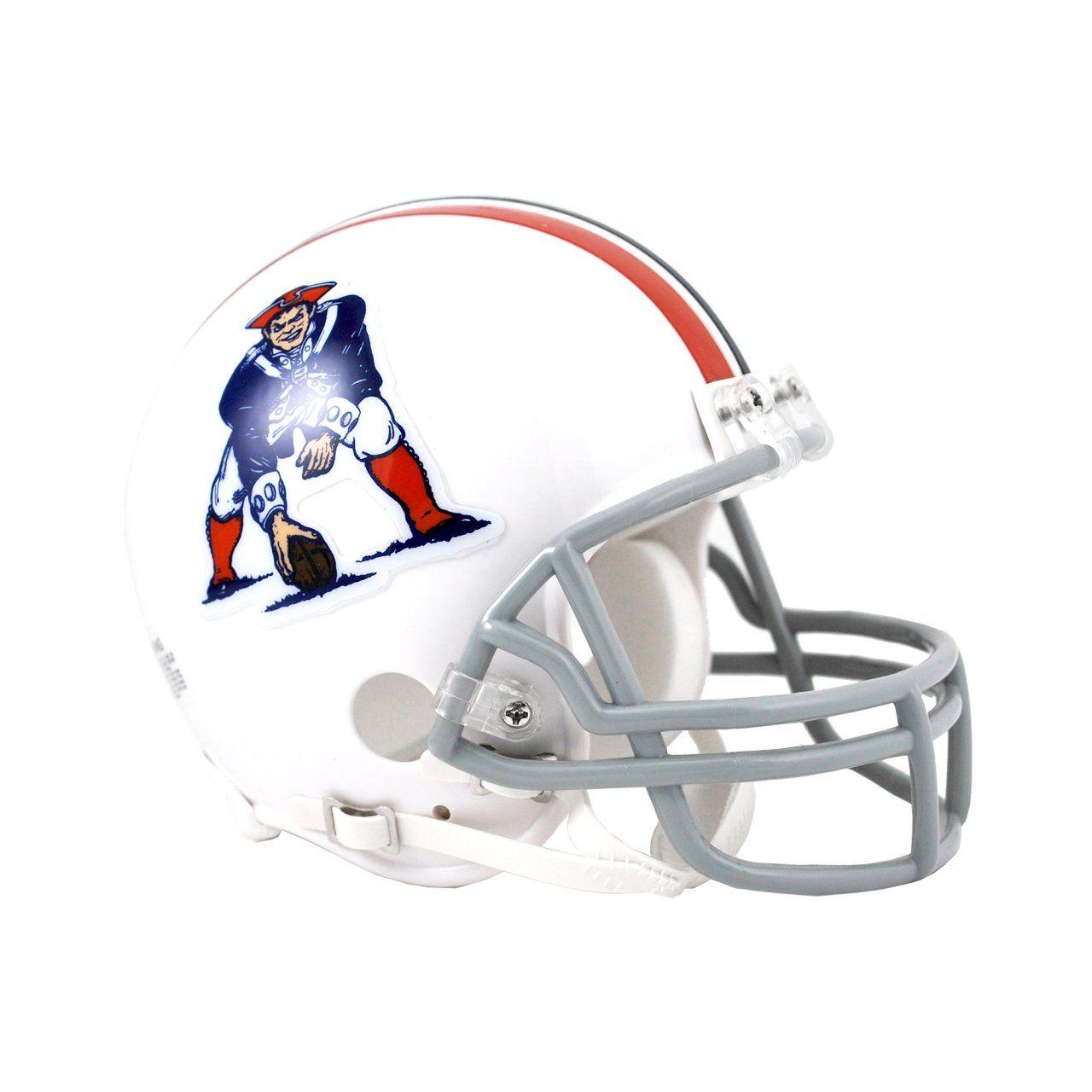 amfoo - Riddell VSR4 Mini Football Helm - New England Patriots 65-81