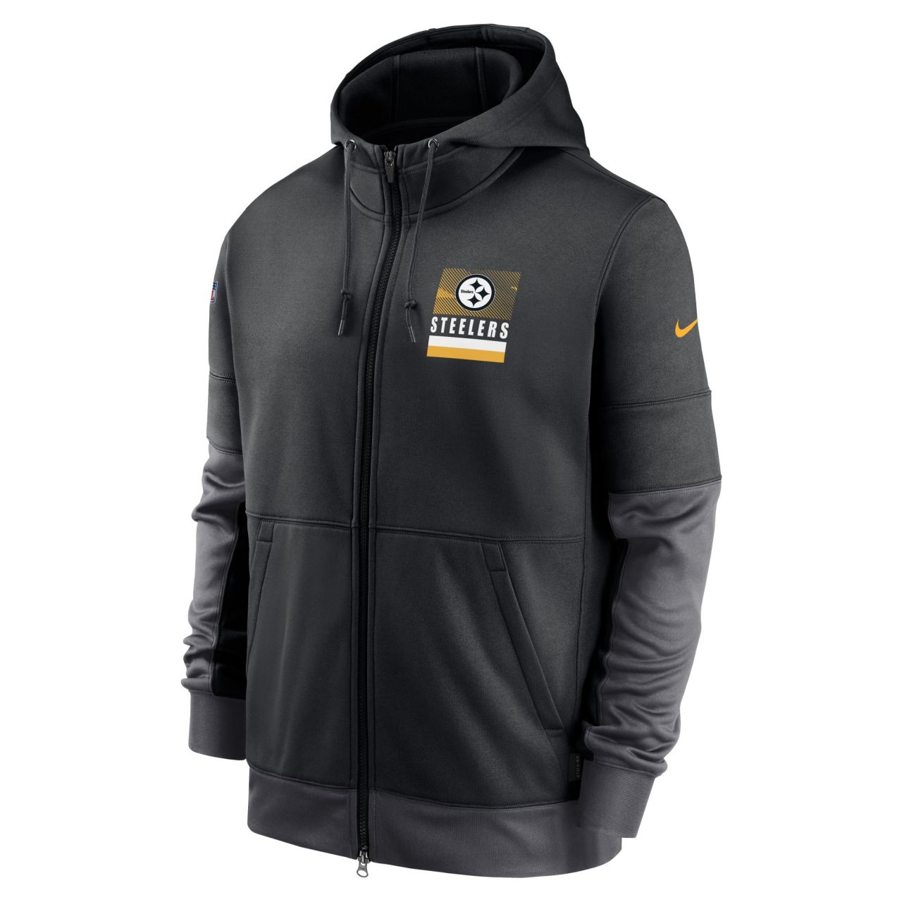 amfoo - Nike NFL Therma Zip Hoody - SIDELINE Pittsburgh Steelers