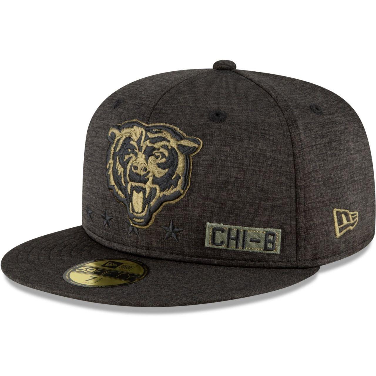 amfoo - New Era 59FIFTY Cap Salute to Service Chicago Bears