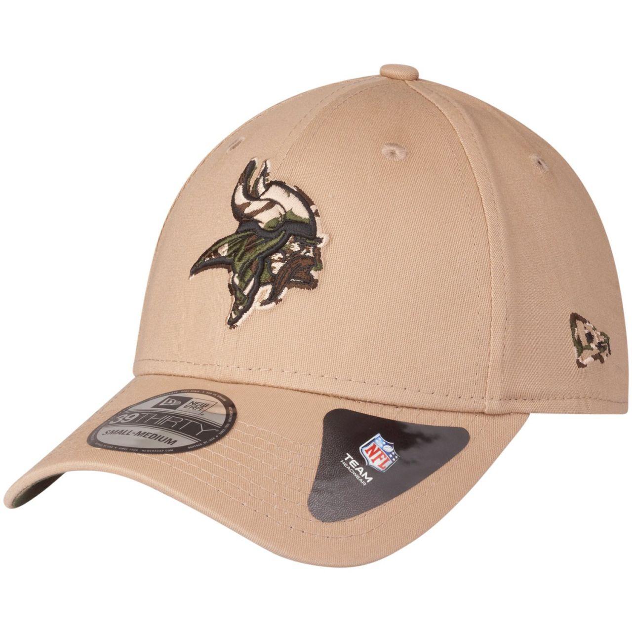 amfoo - New Era 39Thirty Stretch Cap - CAMO Minnesota Vikings