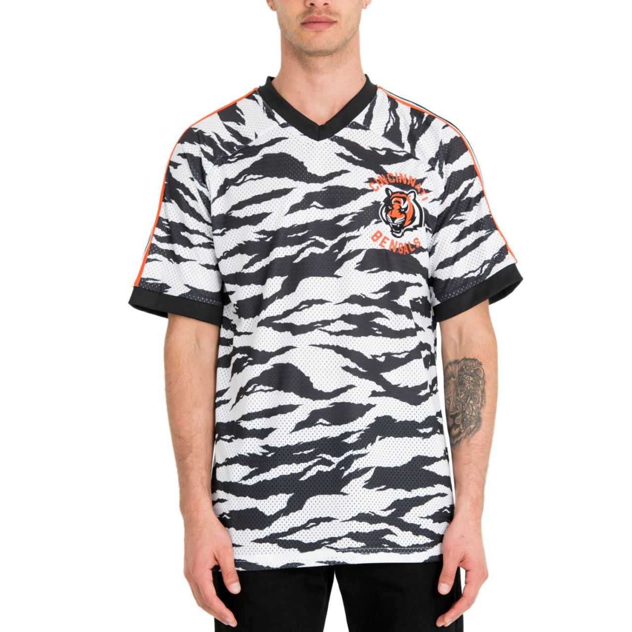 amfoo - New Era NFL Jersey Mesh Shirt - Cincinnati Bengals