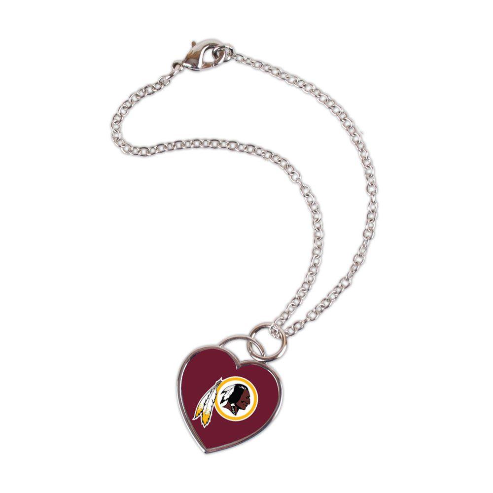 amfoo - Wincraft Damen 3D Herz Armband - NFL Washington Redskins