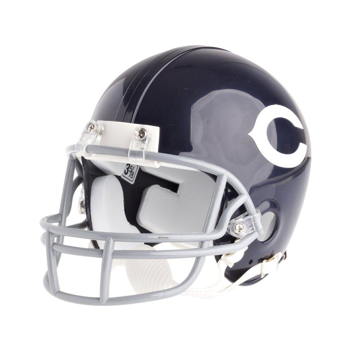 amfoo - Riddell Mini Football Helm - NFL Chicago Bears 62-73