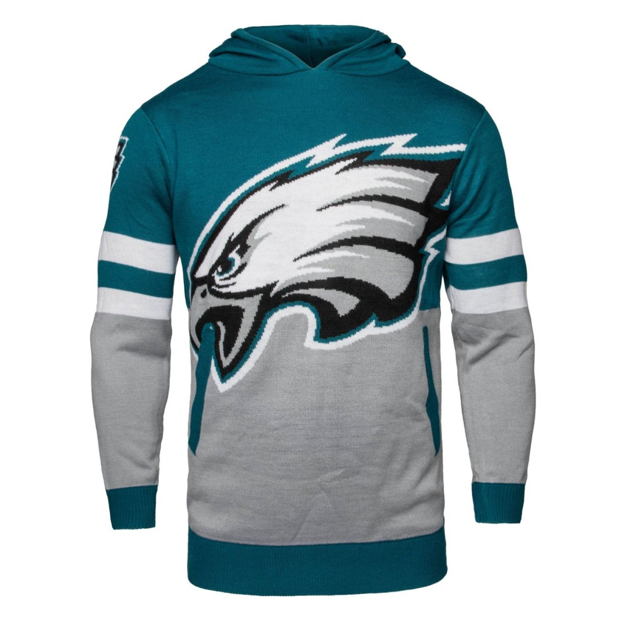 amfoo - NFL Ugly Sweater Big Logo Hoody - Philadelphia Eagles