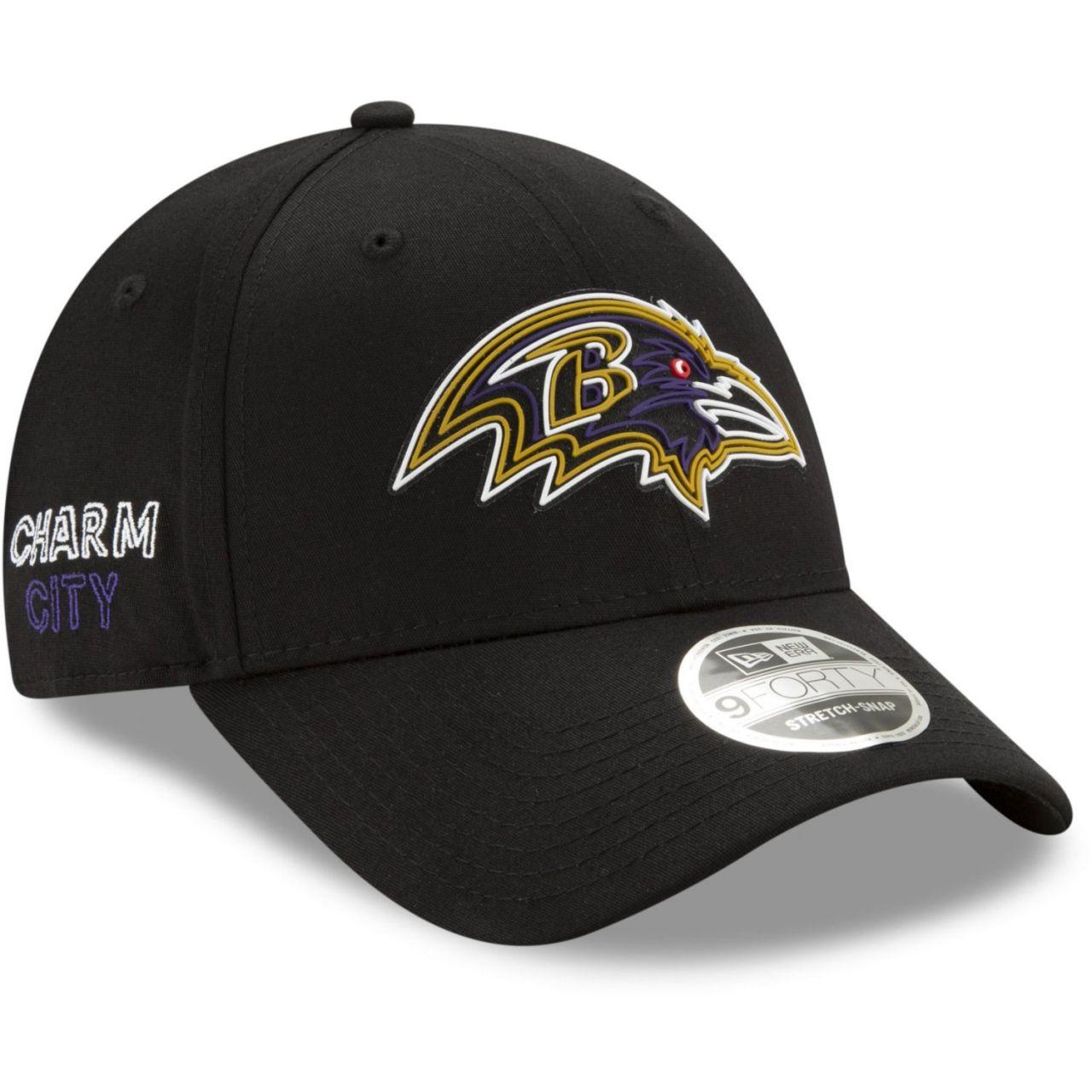 amfoo - New Era 9FORTY Stretch Snap Cap 2020 DRAFT Baltimore Ravens