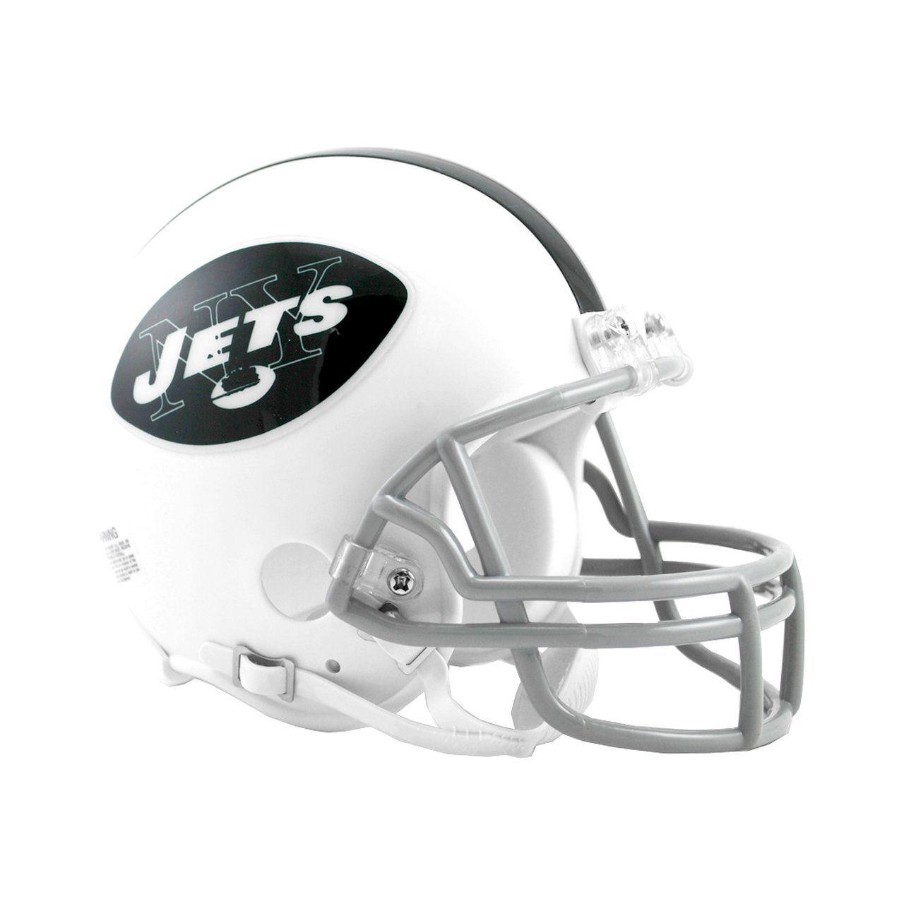 amfoo - Riddell VSR4 Mini Football Helm - New York Jets 1965-1977