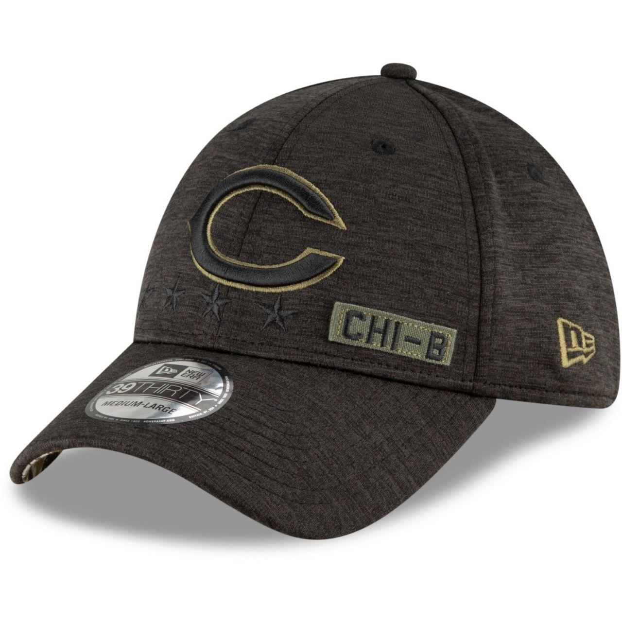 amfoo - New Era 39Thirty Cap Salute to Service Chicago Bears C