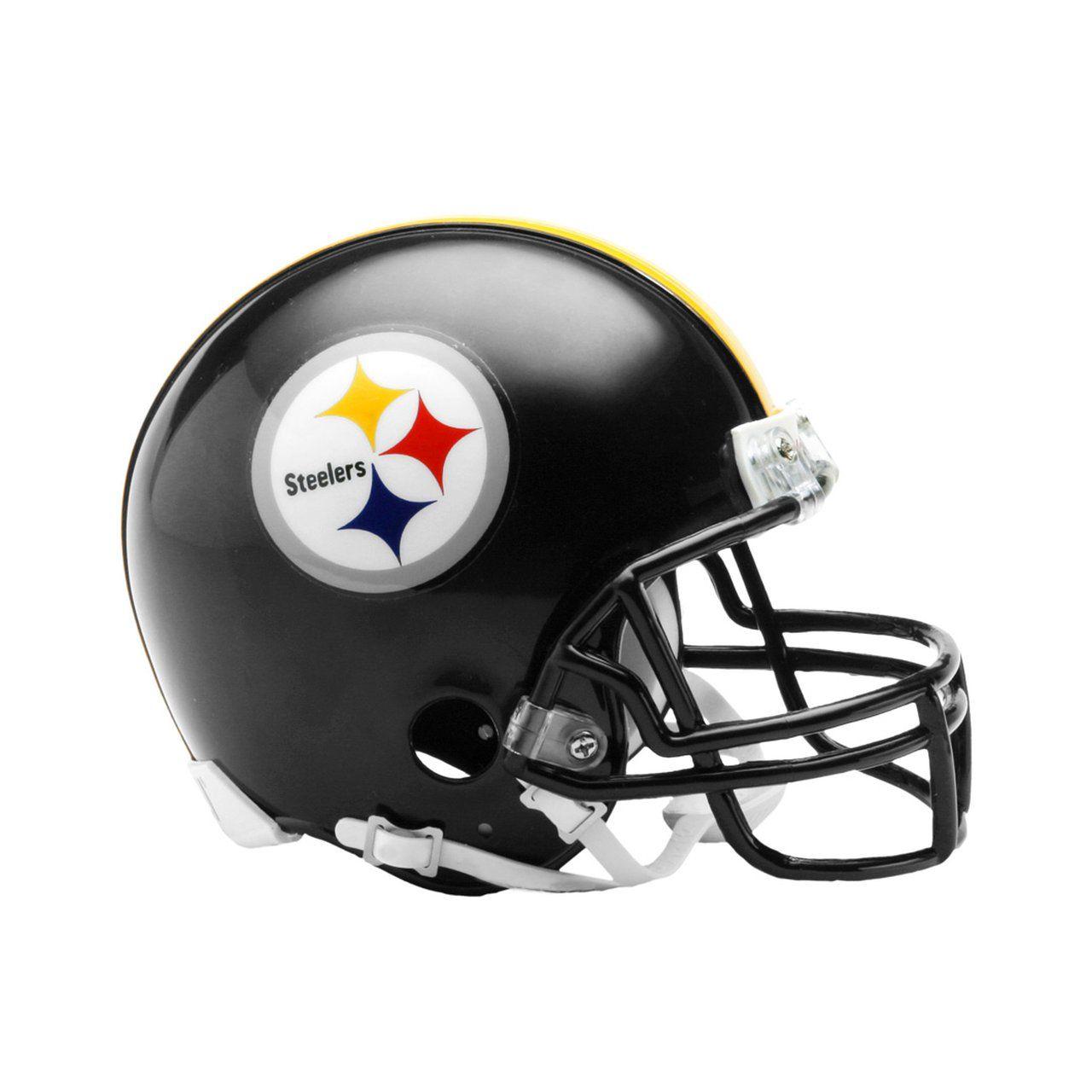amfoo - Riddell VSR4 Mini Football Helm - NFL Pittsburgh Steelers
