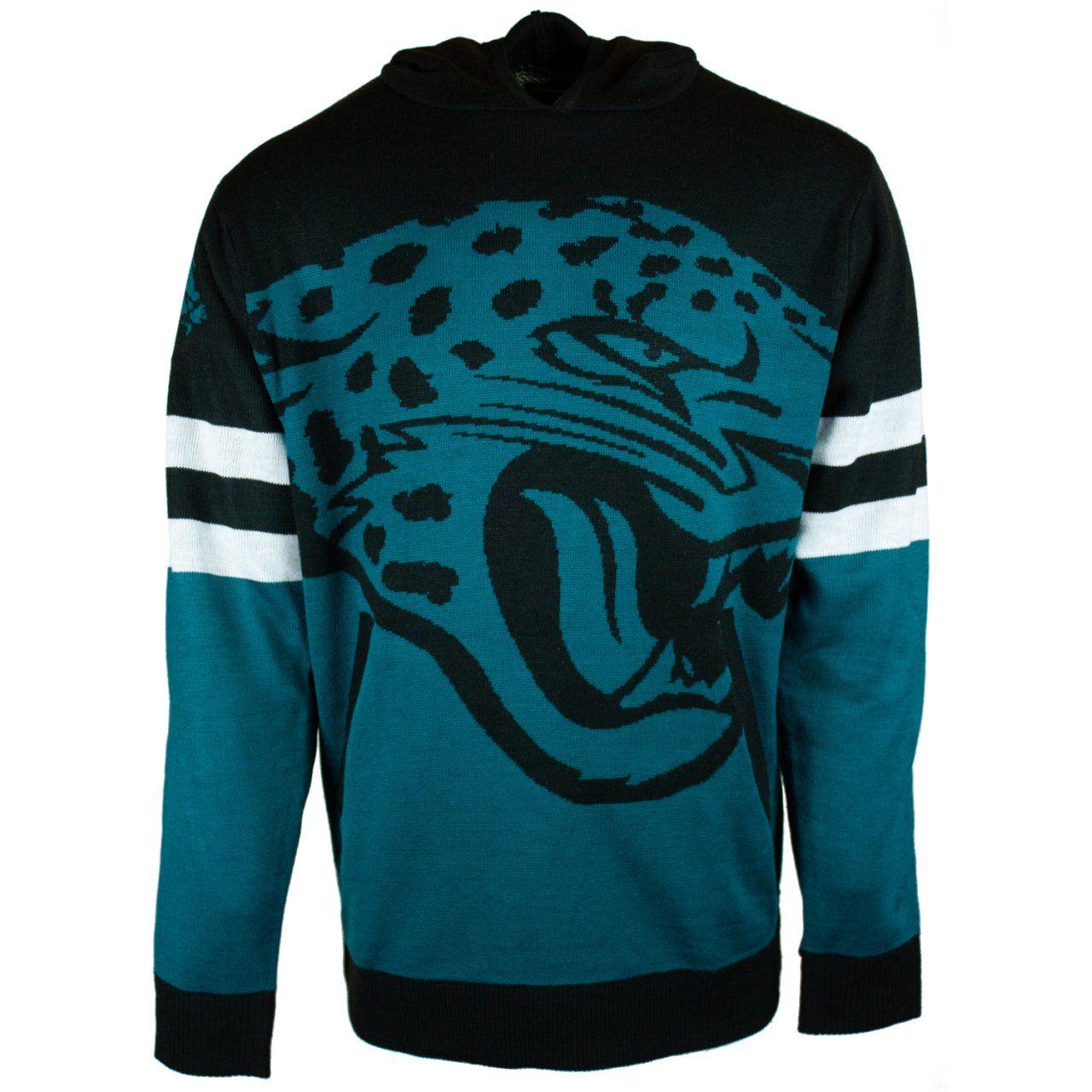 amfoo - NFL Ugly Sweater Big Logo Hoody - Jacksonville Jaguars