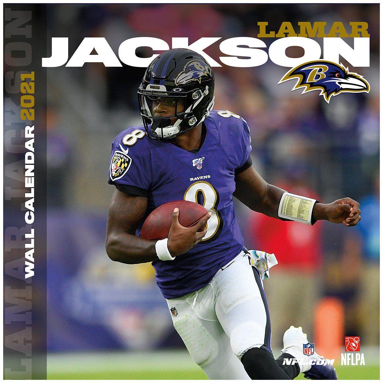 amfoo - NFL Wand-Kalender 2021 Baltimore Ravens Lamar Jackson
