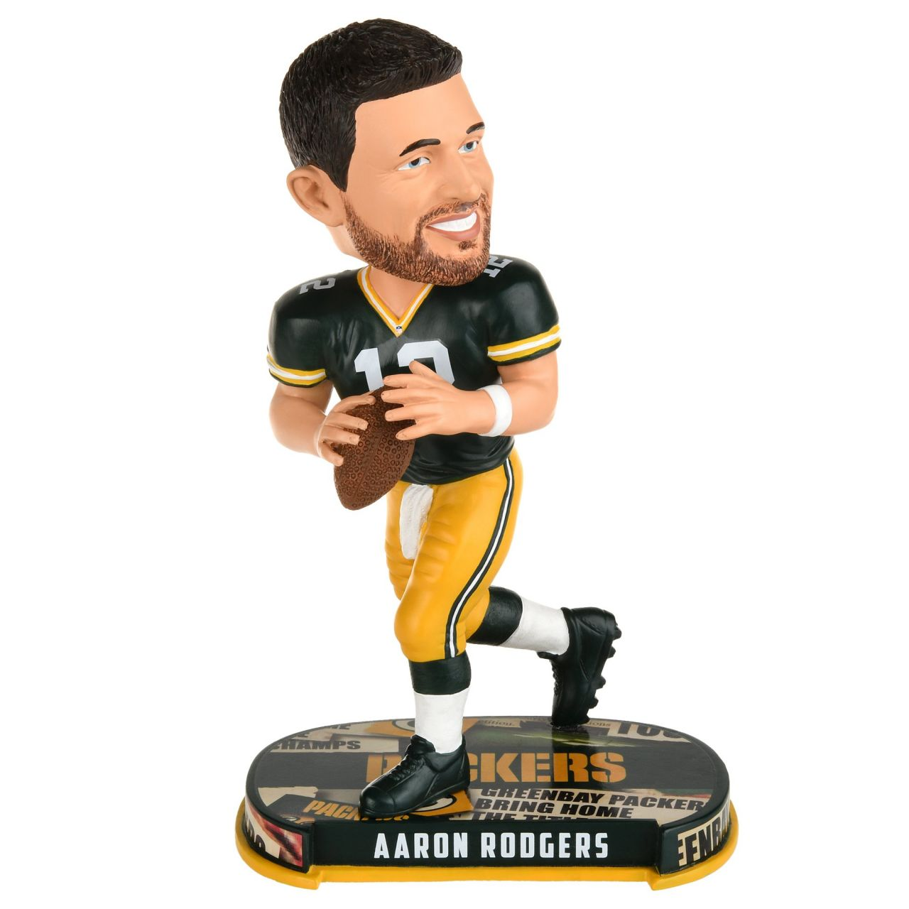 amfoo - Aaron Rodgers #12 Bobblehead NFL Green Bay Packers