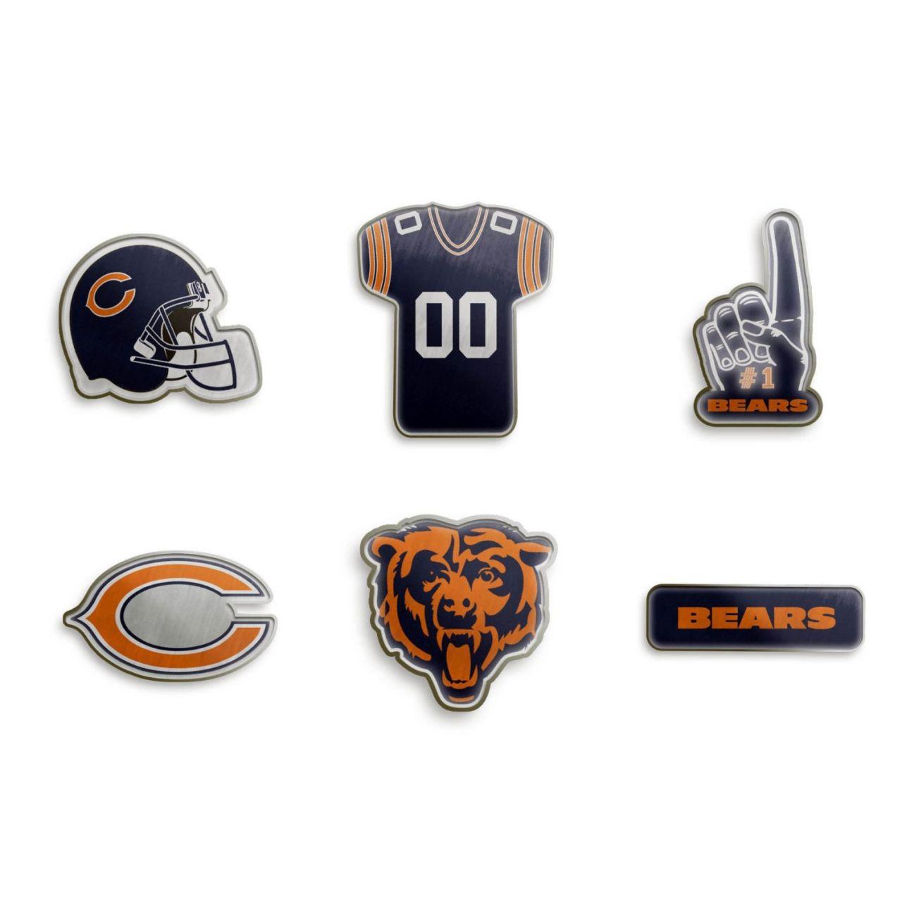 amfoo - Chicago Bears NFL Pin Badge Anstecknadel 6er Set