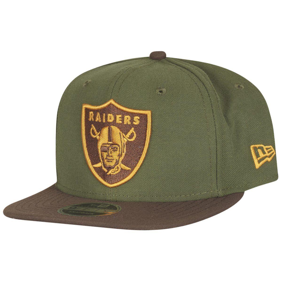 amfoo - New Era Original-Fit Snapback Cap - Oakland Raiders grün