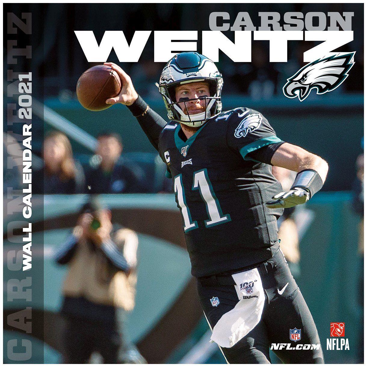 amfoo - NFL Wand-Kalender 2021 Philadelphia Eagles Carson Wentz