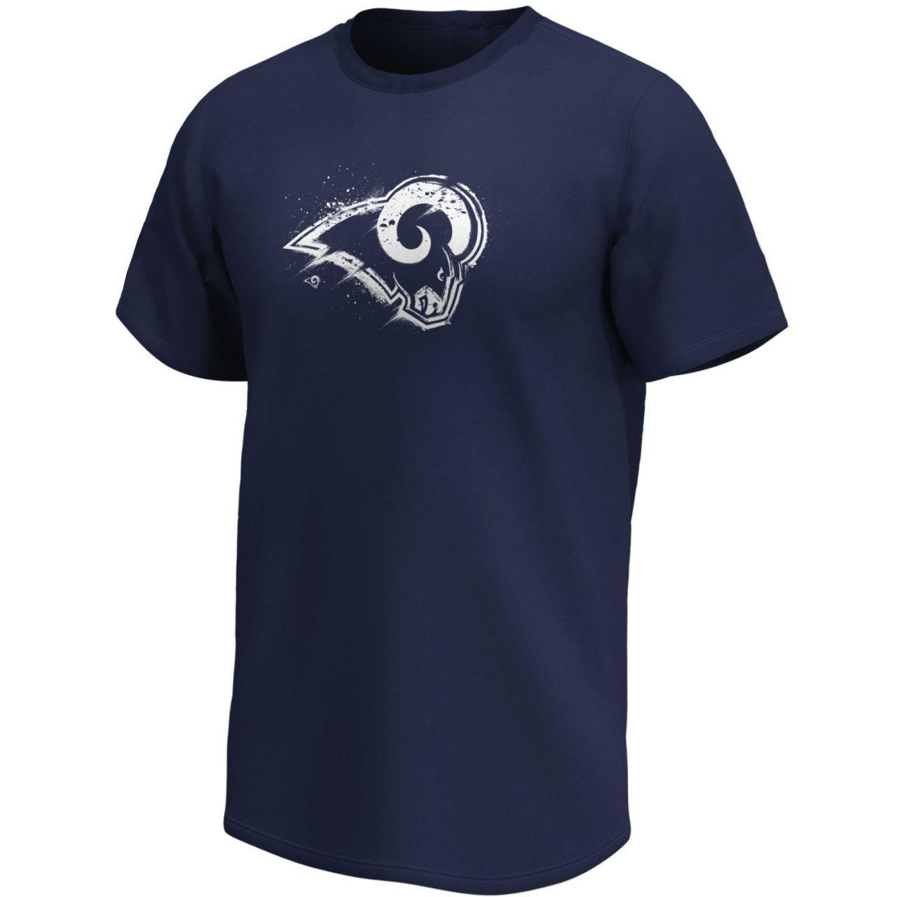 amfoo - Los Angeles Rams NFL Fan T-Shirt Splatter Logo navy