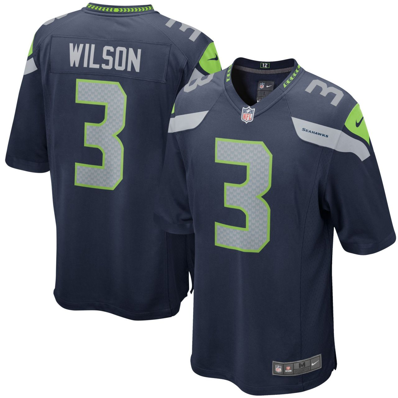 amfoo - Nike GAME Jersey Trikot Seattle Seahawks #3 Russell Wilson