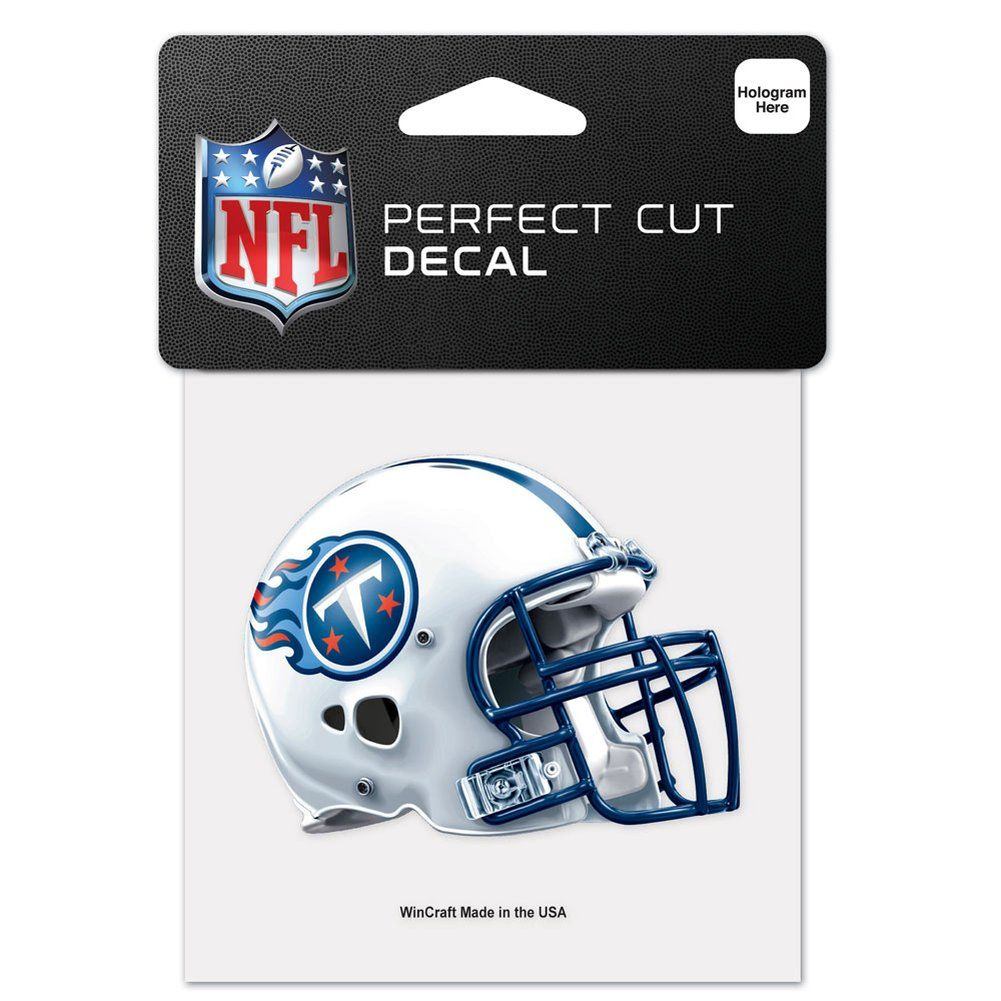 amfoo - Wincraft Helm Aufkleber 10x10cm - NFL Tennessee Titans
