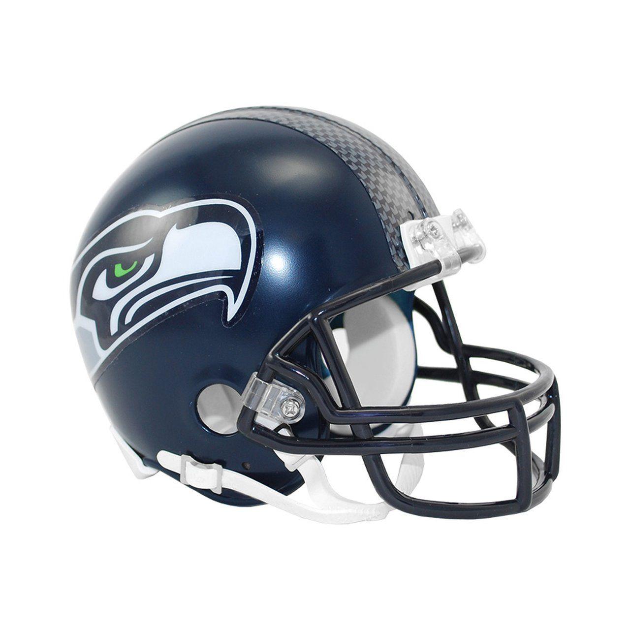 amfoo - Riddell VSR4 Mini Football Helm - NFL Seattle Seahawks