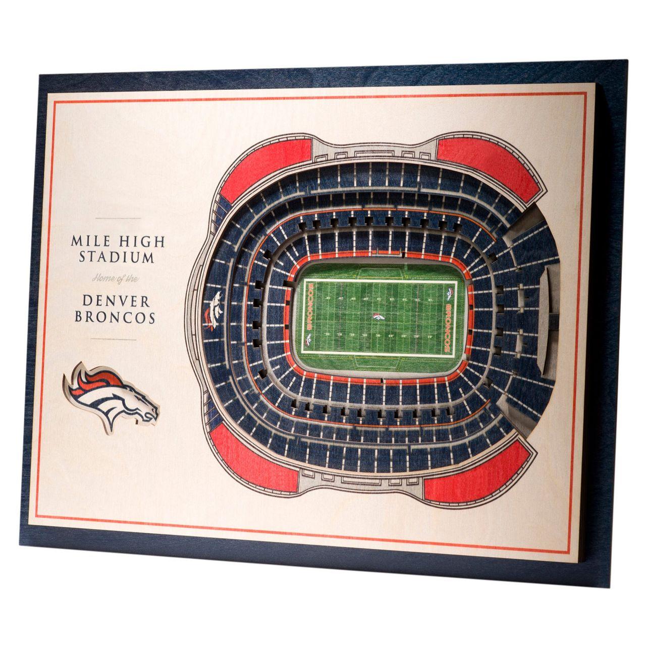 amfoo - YouTheFan Holz Wanddeko Stadion Denver Broncos 43x33cm