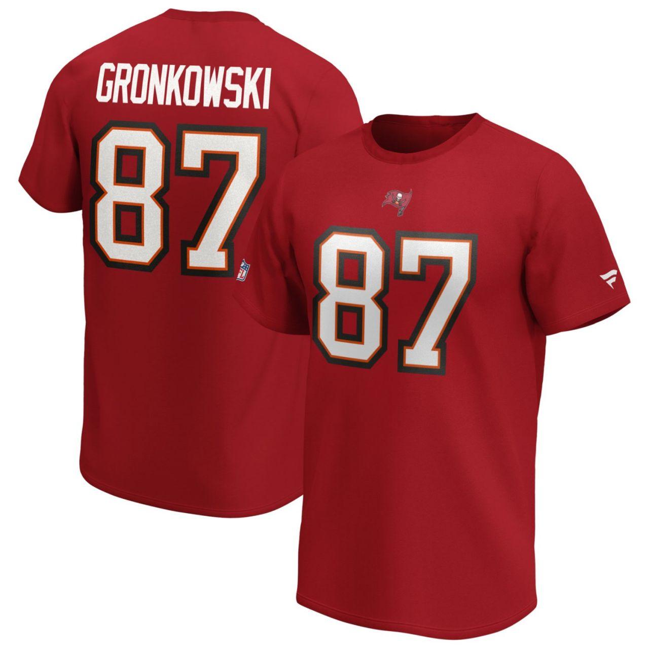 amfoo - Tampa Bay Buccaneers NFL Shirt #87 Rob Gronkowski