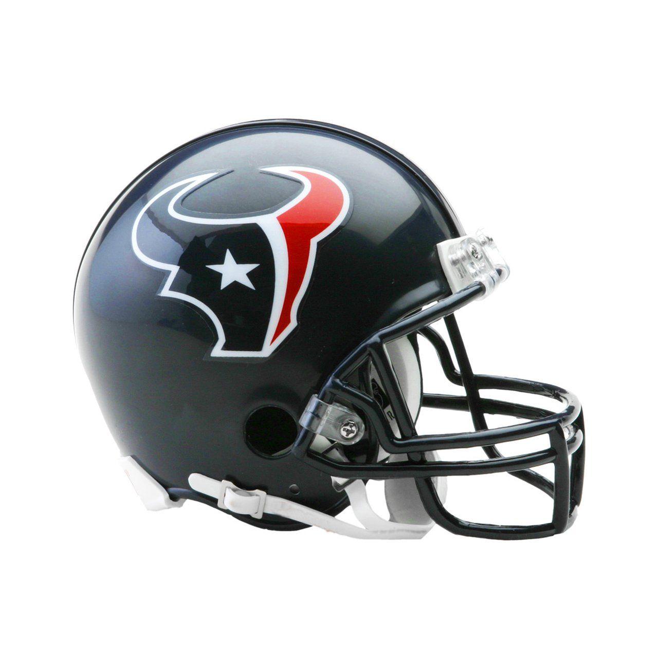 amfoo - Riddell VSR4 Mini Football Helm - NFL Houston Texans