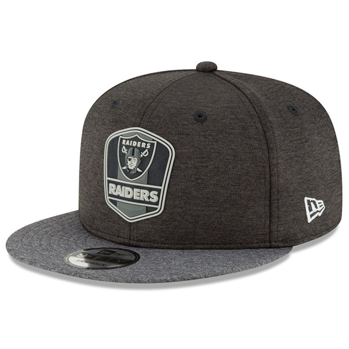 amfoo - New Era Snapback Cap - Black Sideline Oakland Raiders