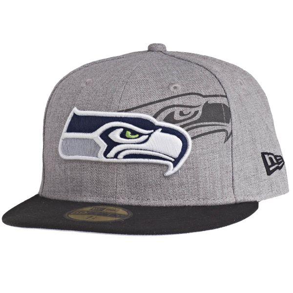 New Era 59Fifty Cap - SCREENING Seattle Seahawks grau