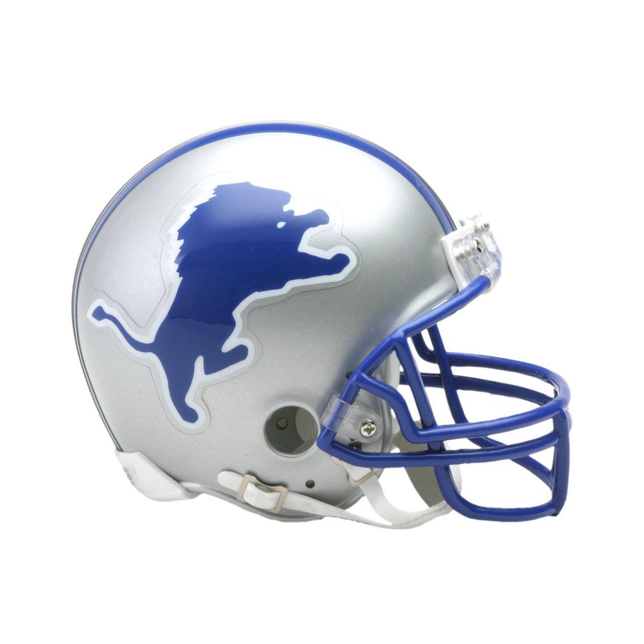 amfoo - Riddell VSR4 Mini Football Helm - Detroit Lions 1893-2002