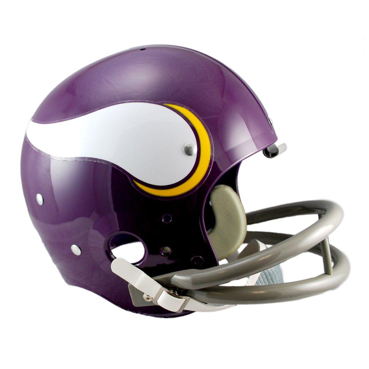 amfoo - Riddell TK Replica Football Helm - Minnesota Vikings 1961-79