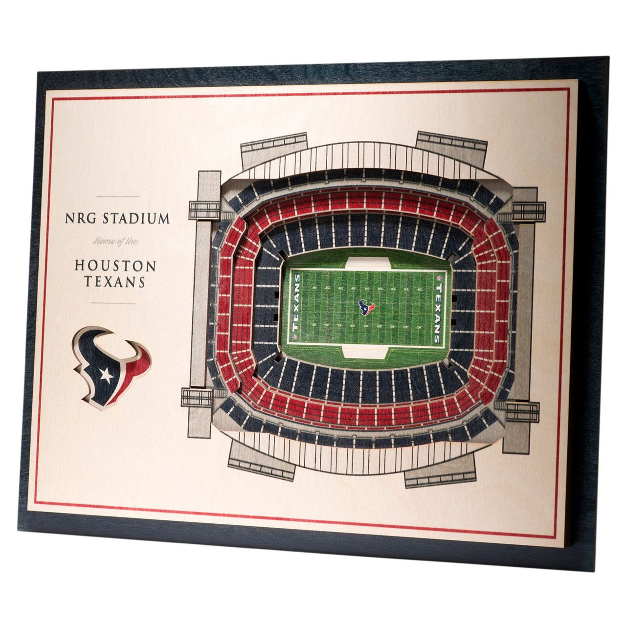 amfoo - YouTheFan Holz Wanddeko Stadion Houston Texans 43x33cm