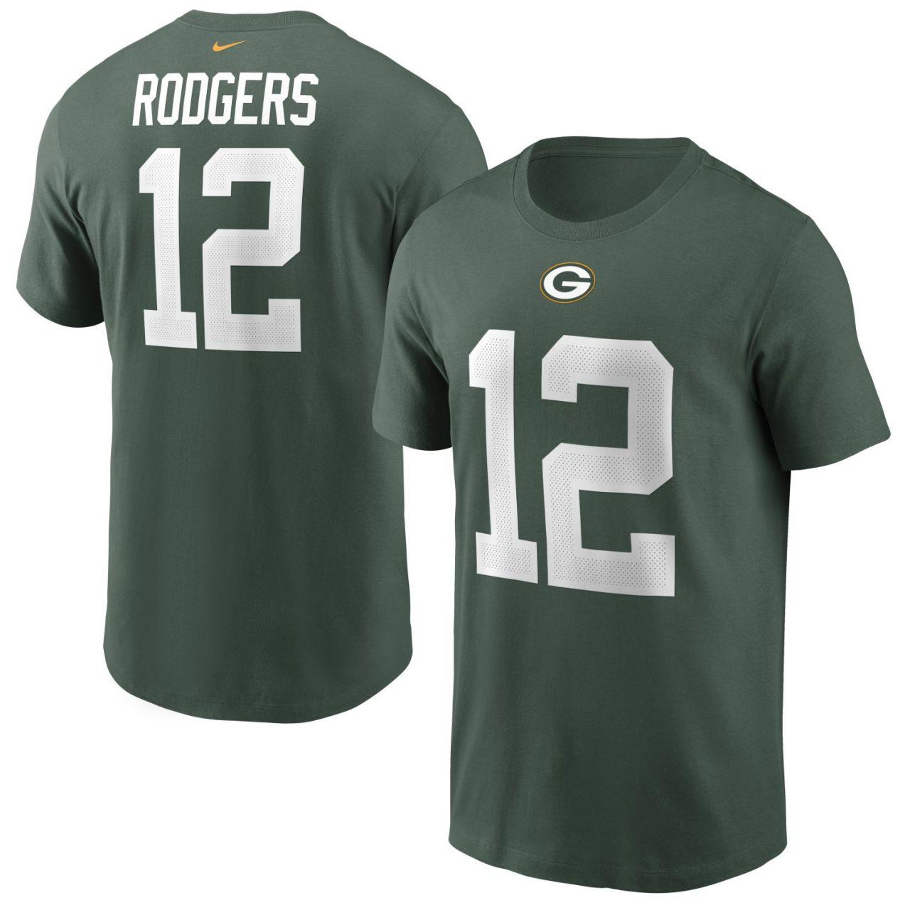amfoo - Nike Player Shirt Green Bay Packers #12 Aaron Rodgers
