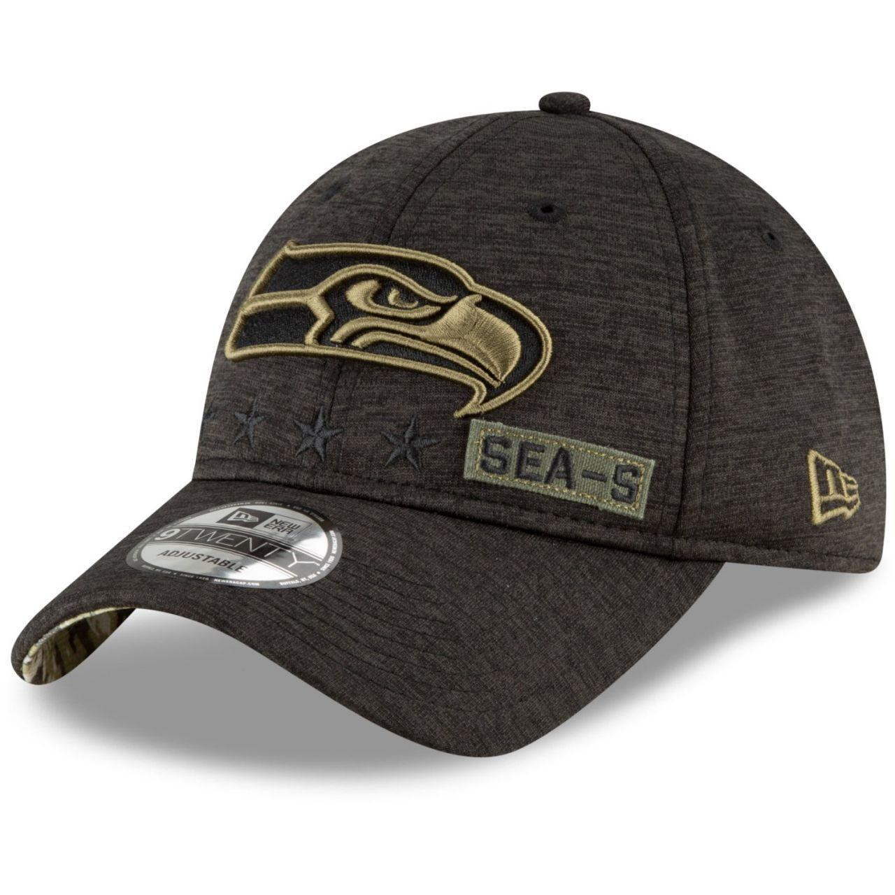 amfoo - New Era 9TWENTY Cap Salute to Service Seattle Seahawks