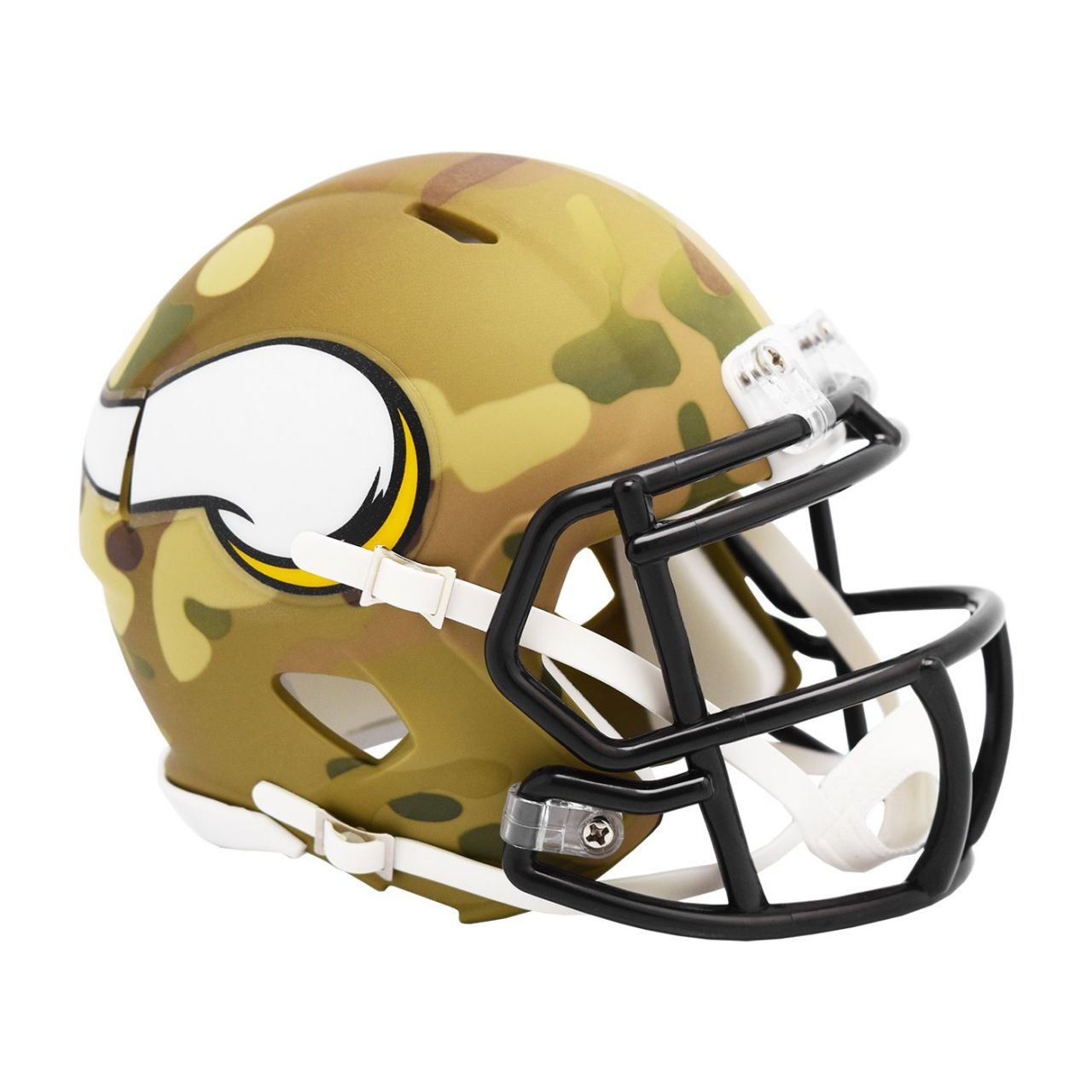 amfoo - Riddell Mini Football NFL Helm MULTICAM Minnesota Vikings