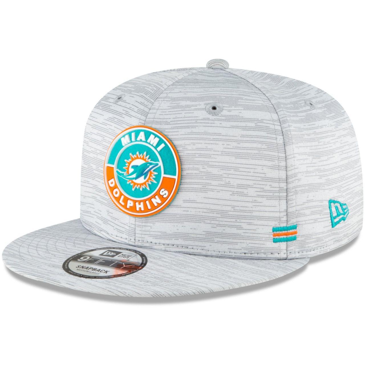 amfoo - New Era 9FIFTY Snapback Cap - SIDELINE 2020 Miami Dolphins