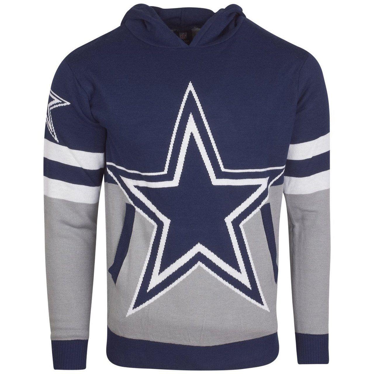 amfoo - NFL Ugly Sweater Big Logo Strick Hoody - Dallas Cowboys