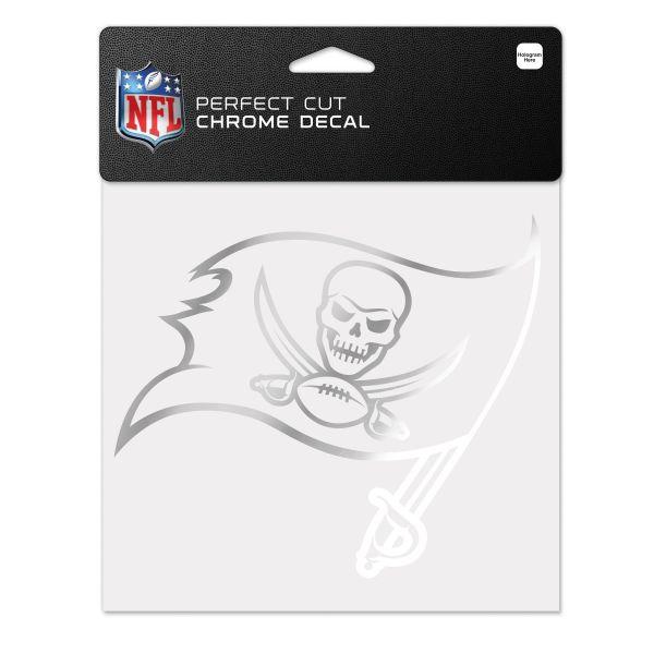 Wincraft Aufkleber 15x15cm - NFL CHROME Tampa Bay Buccaneers