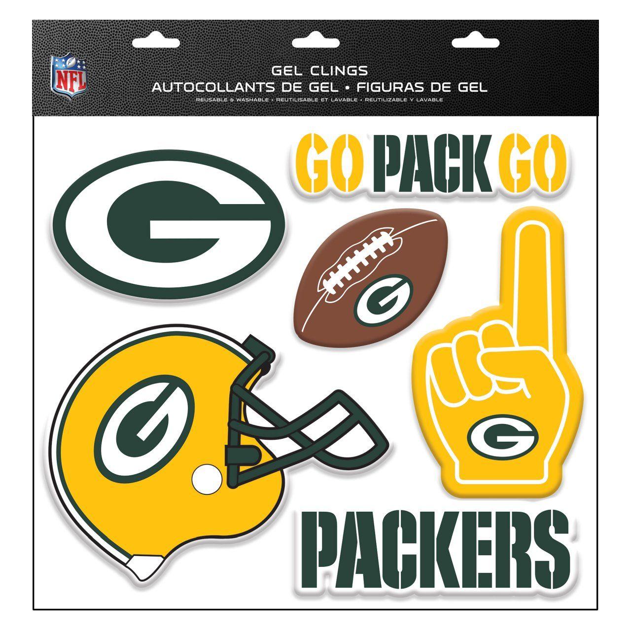amfoo - NFL Green Bay Packers Aufkleber Multi-Use Deko 6er Set