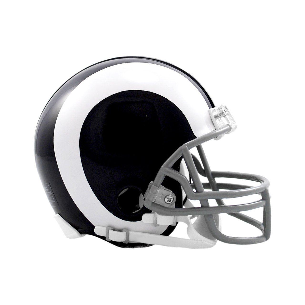amfoo - Riddell VSR4 Mini Football Helm - Los Angeles Rams 1965-1972