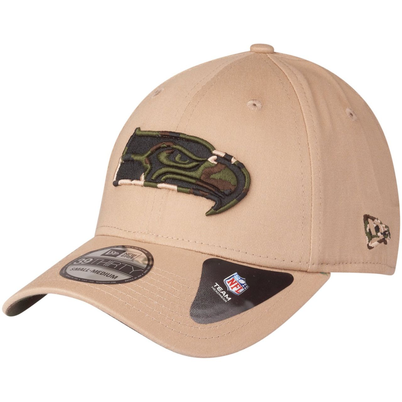 amfoo - New Era 39Thirty Stretch Cap - CAMO Seattle Seahawks